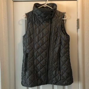 Marc New York Quilted Asymmetric zip front vest